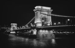 The Bridge over Budapest. Beautiful bridge over one of the most beautiful cities in Europe Stock Photo