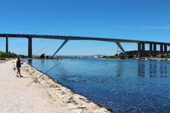 Bridges over Caronte canal in the south of France royalty free stock photography