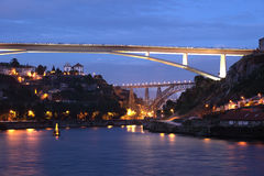 Bridges over Douro river, Porto Stock Photos
