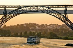 Bridges over Douro river in Porto royalty free stock photo