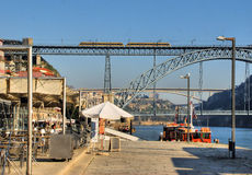 Bridges over Douro river royalty free stock image