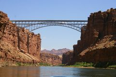 Bridges over Grand Canyon. Bridges Royalty Free Stock Photo