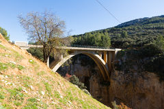 Bridges over Guadalentin  river. Andalusia Stock Photography
