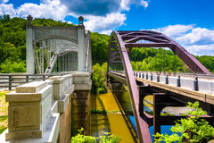 Bridges over Loch Raven Reservoir, in Baltimore, Maryland. Stock Photos
