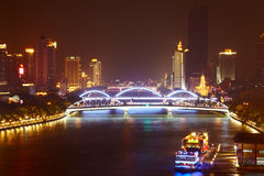 Bridges over Pearl river Stock Photography