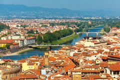 Bridges over the river Arno in Florence, Italy Stock Image