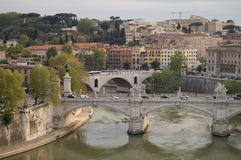 Bridges over the river Tiber Stock Images