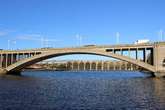 Bridges over River Tweed at Berwick-upon-Tweed. Stock Images