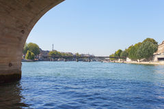 Bridges over Seine river, Paris. Royalty Free Stock Photo