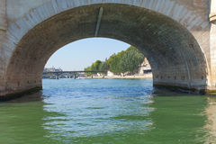 Bridges over Seine river, Paris. Stock Photography