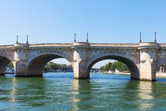 Bridges over Seine river, Paris. Stock Photos