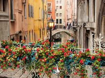 Bridges Over Side Canal, Venice Stock Photo
