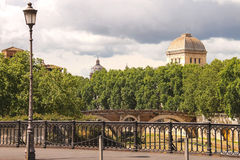 Bridges over the Tiber River in Rome, Italy Royalty Free Stock Photo