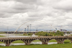 Bridges over the Trinity River in Dallas, Texas Royalty Free Stock Images