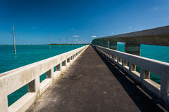 Bridges over turquoise waters in Islamorada, in the Florida Keys Stock Photography