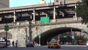 Bridges, Overpasses, Structures, Transportation. A bridge or overpass, New York City stock video