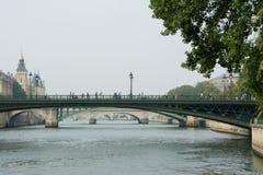 Bridges of Paris. Romantic bridges of Paris over the Seine river Royalty Free Stock Photos