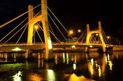 Bridges of Phan Thiet City. Low Tide. Royalty Free Stock Image