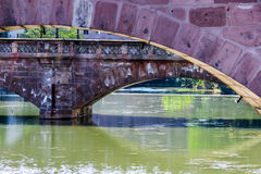 Bridges of pink sandstone Stock Photo