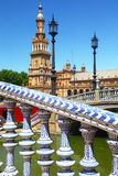 Bridges in Plaza de Espana, Sevilla Stock Photos
