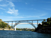 Bridges of Porto 2. Porto stands on the River Douro. Through it airlifted some wonderful beautiful openwork bridges Royalty Free Stock Images