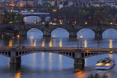 Bridges in Prague Royalty Free Stock Photography