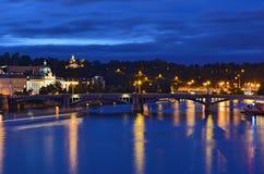 bridges prague Fotografering för Bildbyråer