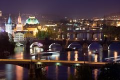 Bridges of Prague Stock Photography