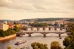 Bridges of Prague Royalty Free Stock Photography