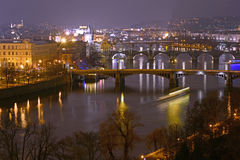 Bridges in Prague Stock Photography
