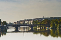 Bridges of Prague. One of several bridges in Prague, Chez Republic royalty free stock photo