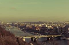 Bridges of Prague, over Vltava. Mánesův most, Prague-Prague 1, Czechia Royalty Free Stock Photography