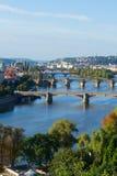 Bridges of Prague over VLtava river Stock Image