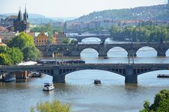 Bridges of Prague Stock Image