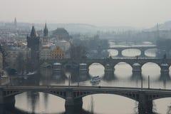 bridges prague s royaltyfri bild