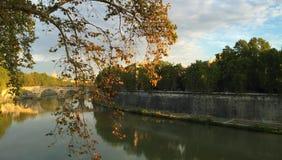 Bridges of Rome - Ponte Principe Amedeo Savoia Aosta royalty free stock image