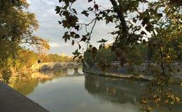 Bridges of Rome - Ponte Principe Amedeo Savoia Aosta royalty free stock photo