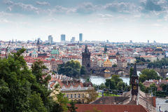 Bridges and rooftops of Prague Royalty Free Stock Image