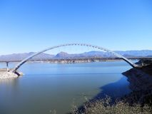 Bridges. Roosevelt Lake bridge Royalty Free Stock Images