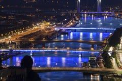 Bridges on Seine River in Rouen Royalty Free Stock Image