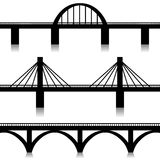 Bridges set. Illustration of silhouette of bridges as a symbol of the city vector illustration