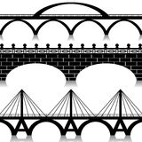 Bridges set. Illustration of silhouette of bridges as a symbol of the city royalty free illustration