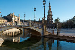 Bridges in sevilla Royalty Free Stock Photos