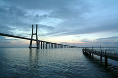bridges soluppgång Royaltyfri Bild