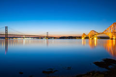 Bridges at South Queensferry Royalty Free Stock Image