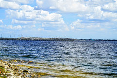 Bridges. The southbound and northbound Tamiami Trail bridges that go over Charlotte Harbor in southwest Florida Stock Photography