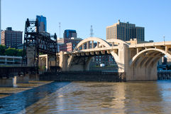 Bridges Spanning Mississippi River in Saint Paul Royalty Free Stock Photos
