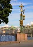 Bridges of St.Petersburg. Panteleymonovsky Bridge across the Fontanka river Stock Photo