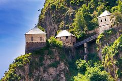 Bridges and towers of Hochosterwitz castle in Austria Royalty Free Stock Photo