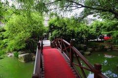 Bridges, trees, water Stock Photo